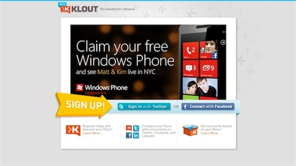Klout and Microsoft