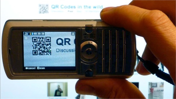 QR Codes on TV
