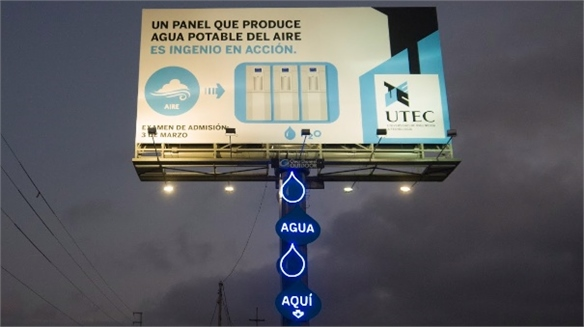 Billboard Produces Drinking Water