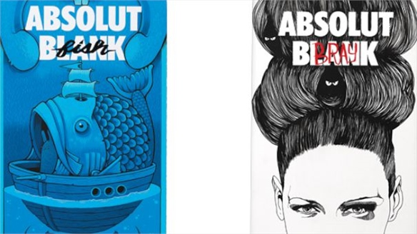 Drawing an Absolut Blank