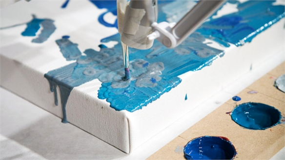 Interactive Robotic Painting Machine