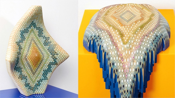 Lionel Bawden: Coloured Pencil Sculptures