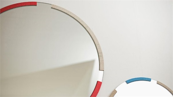 Bound Wall Mirror by Grain Design