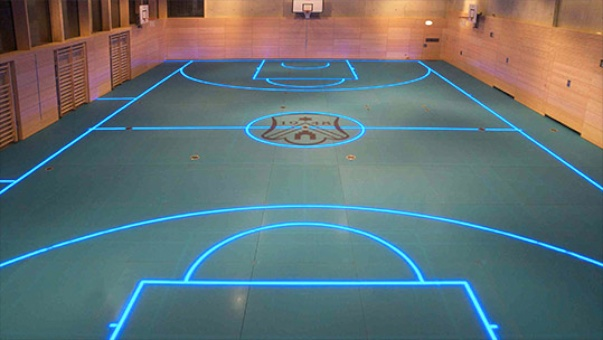 Led Boosted Gym Floor By Asb Systembau Stylus