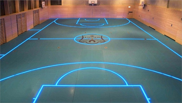 LED-Boosted Gym Floor by ASB Systembau