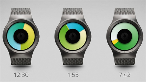 Celeste Watch Tells Time With Colour