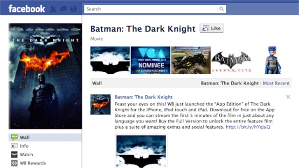 Facebook Streams Feature Films