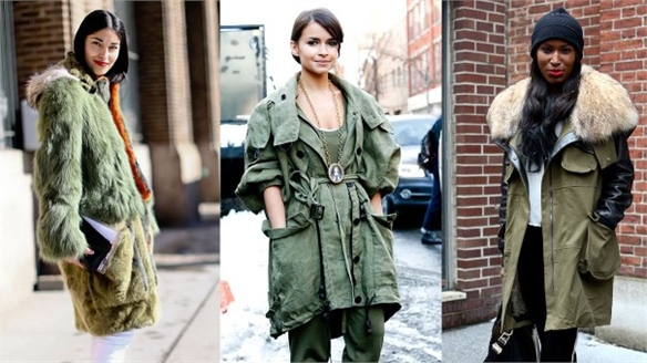 NYFW A/W 13-14 Street Style: Luxe Parkas