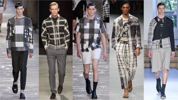 Menswear S/S 14: Blown-Up Plaid