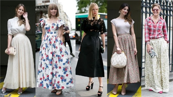 Couture A/W 14 Street Style: Longer-Length Dirndl