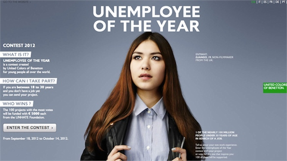 Benetton's Unemployee of the Year Awards