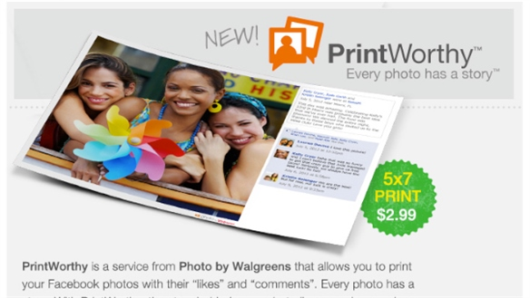 Walgreens Prints Through Facebook
