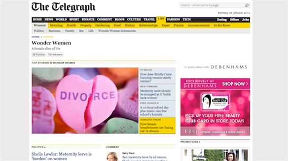 Telegraph Launches Women's Online Channel