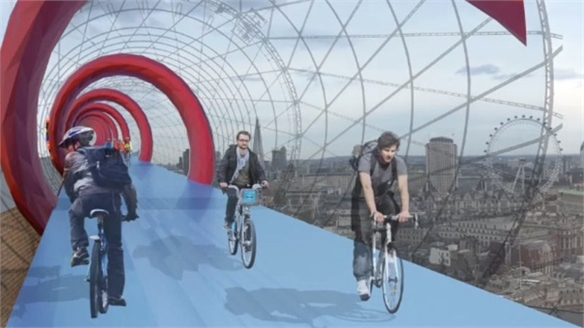 SkyCycle: Cycle Lanes Above the City