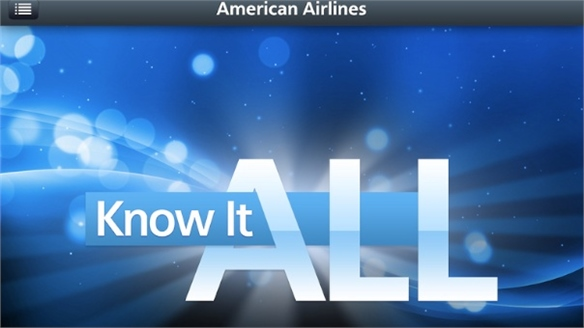 American Airlines In-Flight Gaming App
