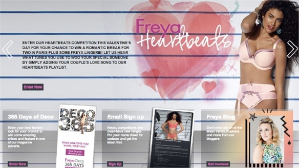 Freya Lingerie's Interactive Valentine's Campaign