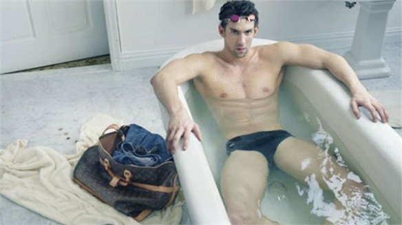 US Swimmer Michael Phelps for Louis Vuitton
