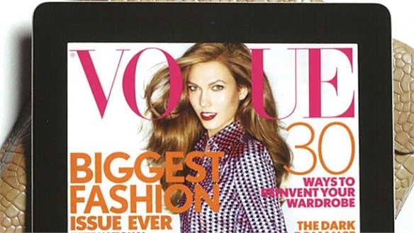 British Vogue's iPad App Goes Monthly
