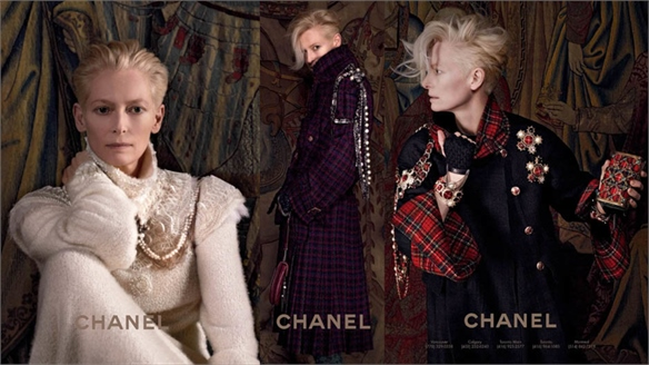 Tilda Swinton for Chanel Pre-Fall