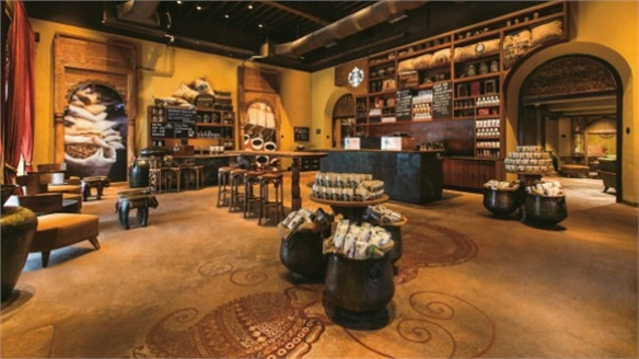 Starbucks' Local-Concept Café in India