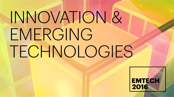 Innovation & Emerging Technologies: EmTech 2016