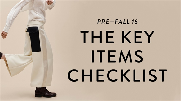 Pre-Fall 16: Key Items Checklist