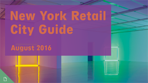 Retail City Guide: NYC, August 2016