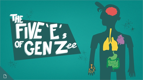 Pop Culture Infographic – The Five 'E's of Gen Zee