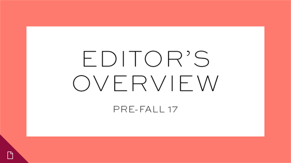 Pre-Fall 17: Editor's Overview