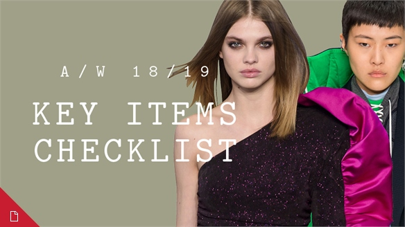 A/W 18/19: Key Items Checklist