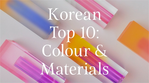 Korean Top 10: Colour & Materials