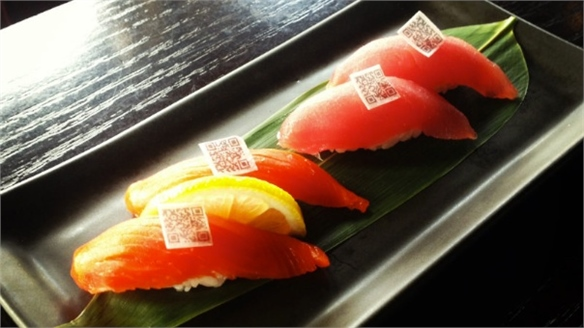 Edible QR Codes Promote Sustainable Sushi