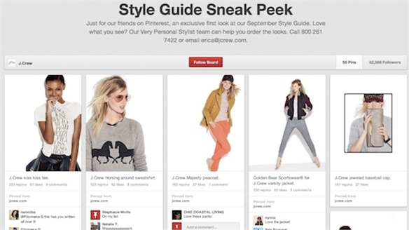 J. Crew Debuts Fall Line on Pinterest