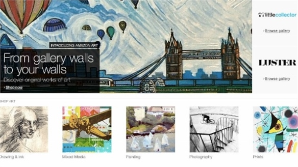 Amazon Expands into Art & Groceries