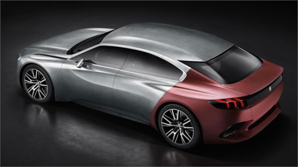 Peugeot Concept: Synthetic Sharkskin