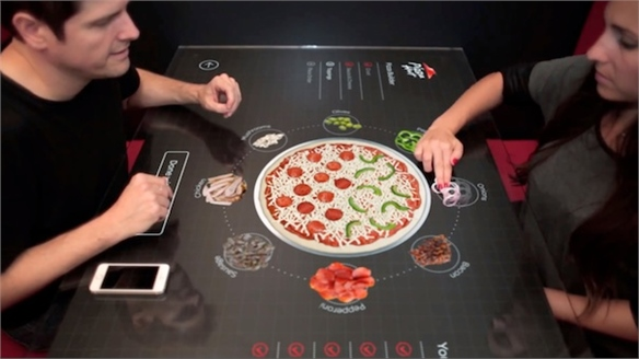 Pizza Hut's Touchscreen Menus