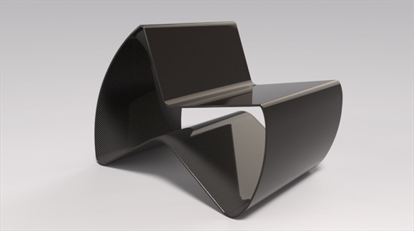 Ultra-Thin Carbon Fibre Chair