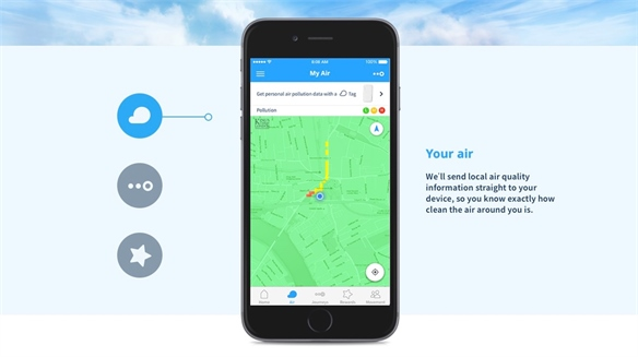 CleanSpace: Air-Monitoring App
