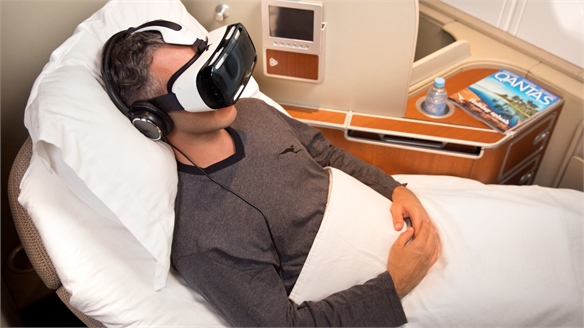 Qantas Trials In-Flight Virtual Reality