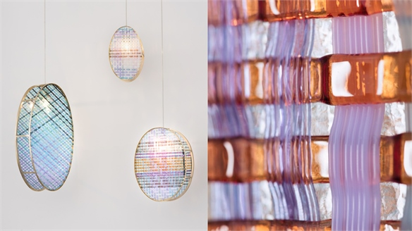 Elisa Strozyk: Woven Glass Lights