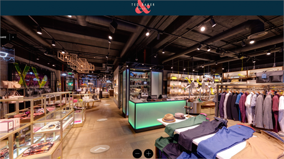 Physi-Virtual Flagship: Ted Baker (& Moore), London