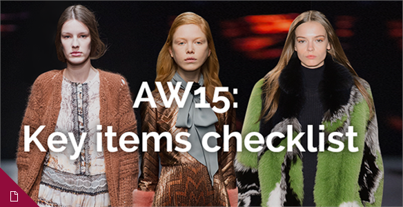 AW15: Key items checklist