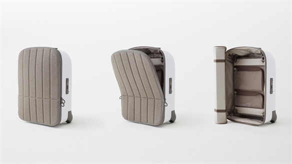 Nendo's Suitcase with Flexible Lid