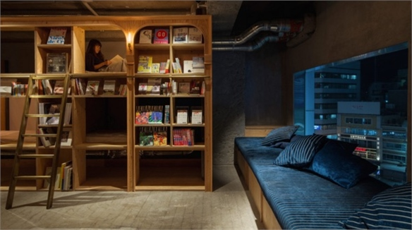 Tokyo's Bookstore-Themed Hostel