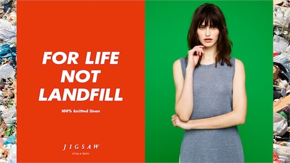 Jigsaw's Anti-Waste A/W 15-16 Campaign