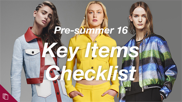 Pre-summer 16: Key Items Checklist