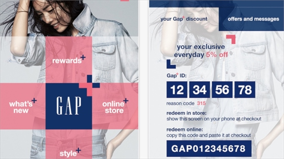 Gap's Contextual Commerce Loyalty App