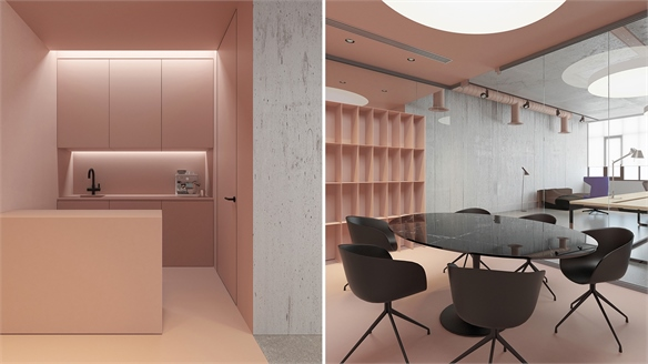 Pink: Softening the Office Space