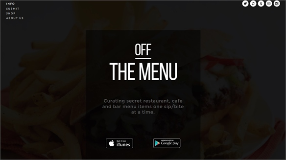 Off The Menu: Exclusive Meal App
