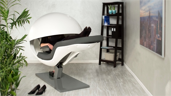 Relaxation Audio Boosts Office Nap-Pods